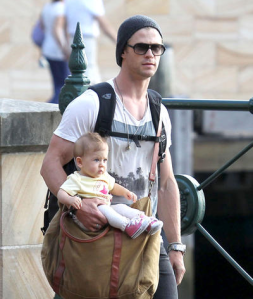 Chris Hemsworth and baby