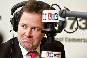 picture on nick clegg on LBC - to illustrate a blog on his comments on Jeremy Paxman