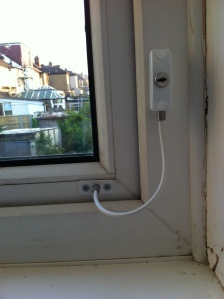 Locit Cable Window Restrictor installed correctly