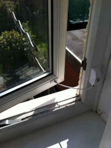 Open window with Locit window restrictor installed