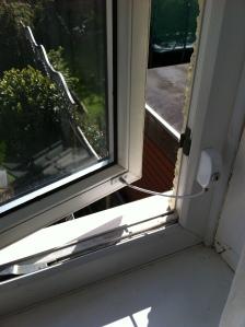 Open window with Locit window restrictor installed